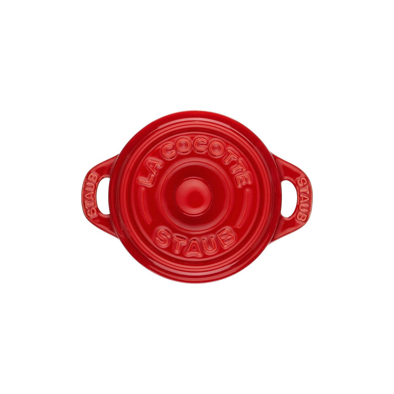 Mini Cocotte 10 cm, Rond(e), Cerise, Céramique,,large 3