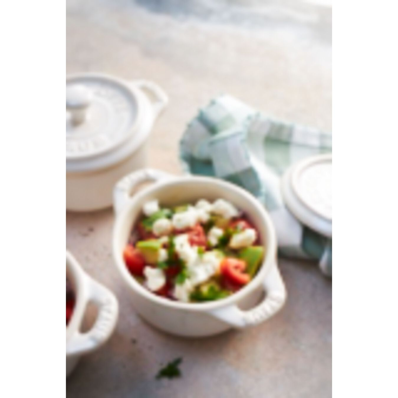 3-pc Mini Round Cocotte Set - White,,large 4