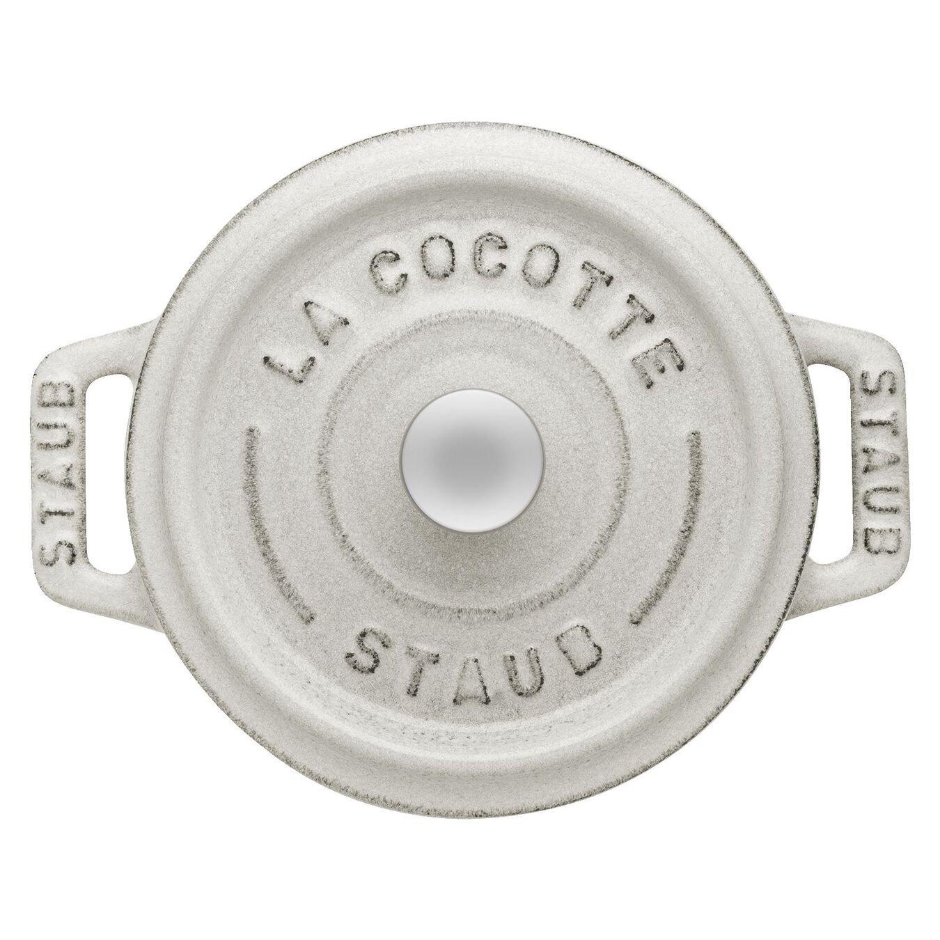 Mini Cocotte 10 cm, rund, Weisser Trüffel, Gusseisen,,large 3