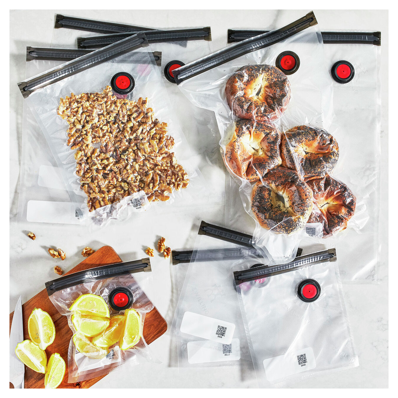 small/medium/large / 10 Piece Vacuum bag set, Plastic ,,large 8