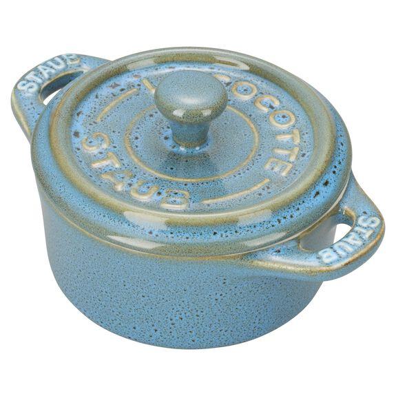 3-pc Mini Round Cocotte Set - Rustic Turquoise,,large 2