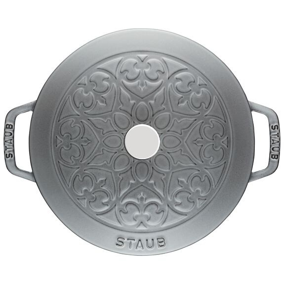 3.75-qt round French oven lily, Graphite Grey,,large 2