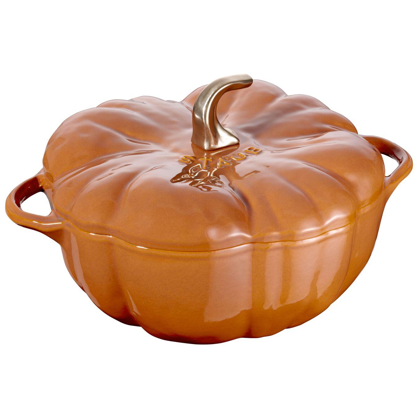 5-qt Pumpkin Cocotte - Burnt Orange,,large 1