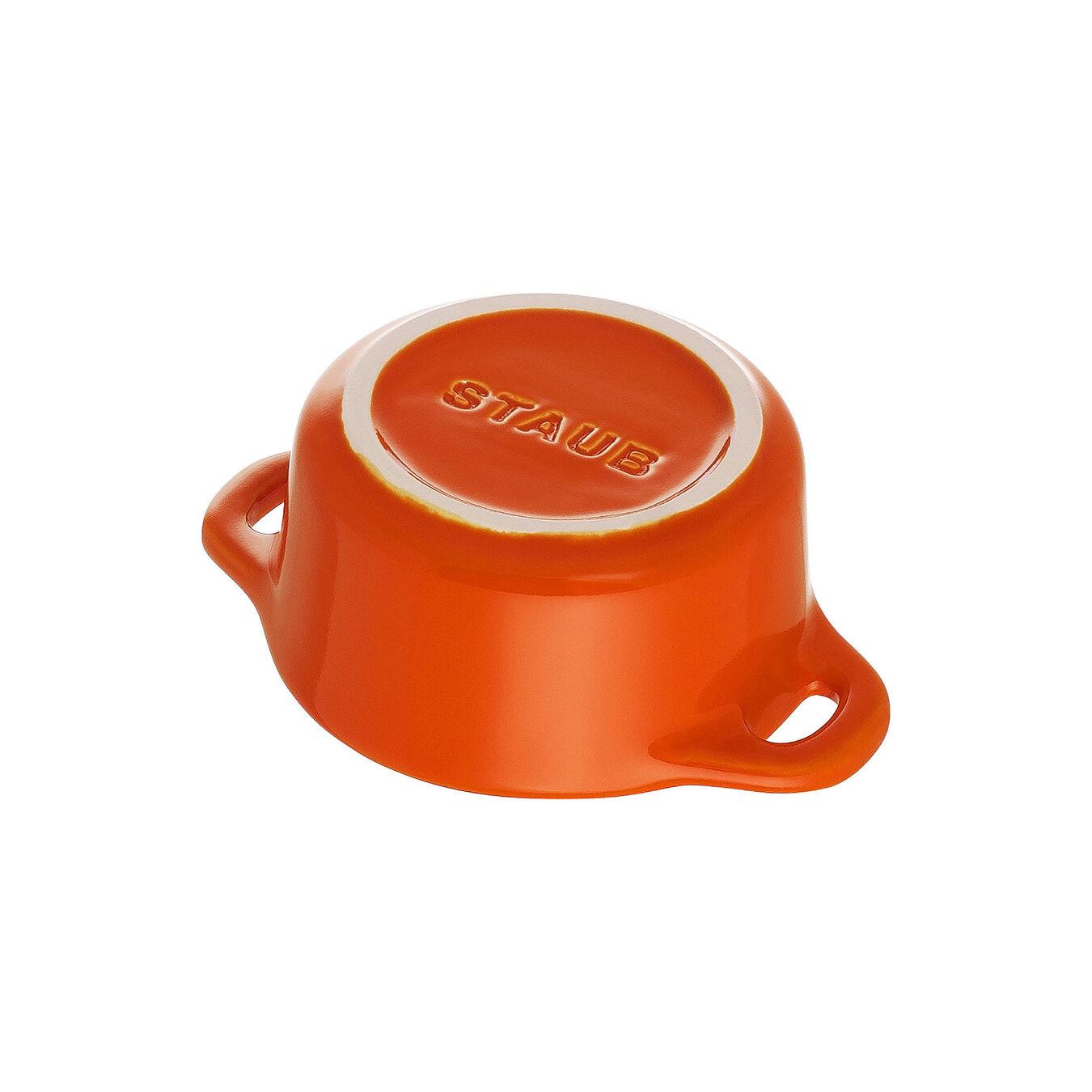 Mini Cocotte 10 cm, Rond(e), Orange, Céramique,,large 5