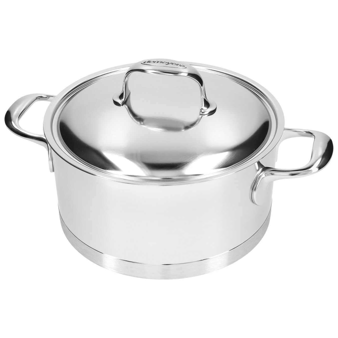4.25 qt, 18/10 Stainless Steel, Stew pot with lid,,large 4