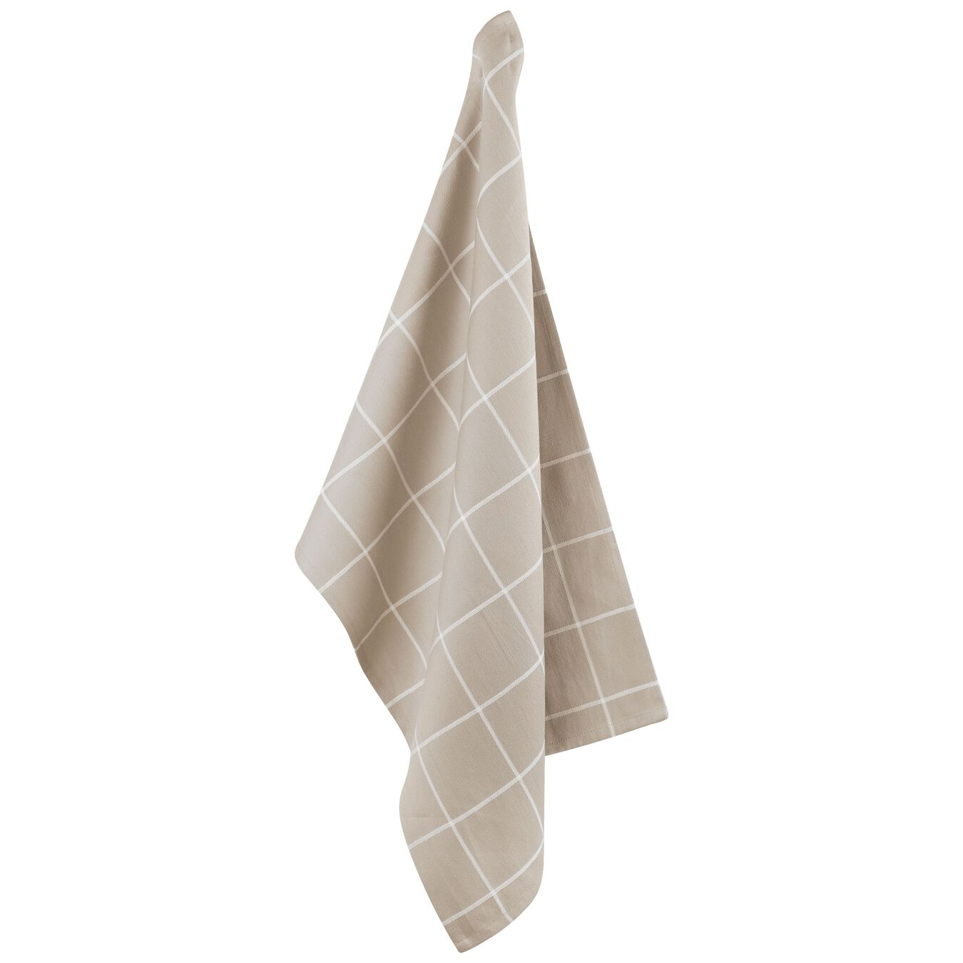 2 Piece Cotton Kitchen towel set checkered, taupe,,large 3