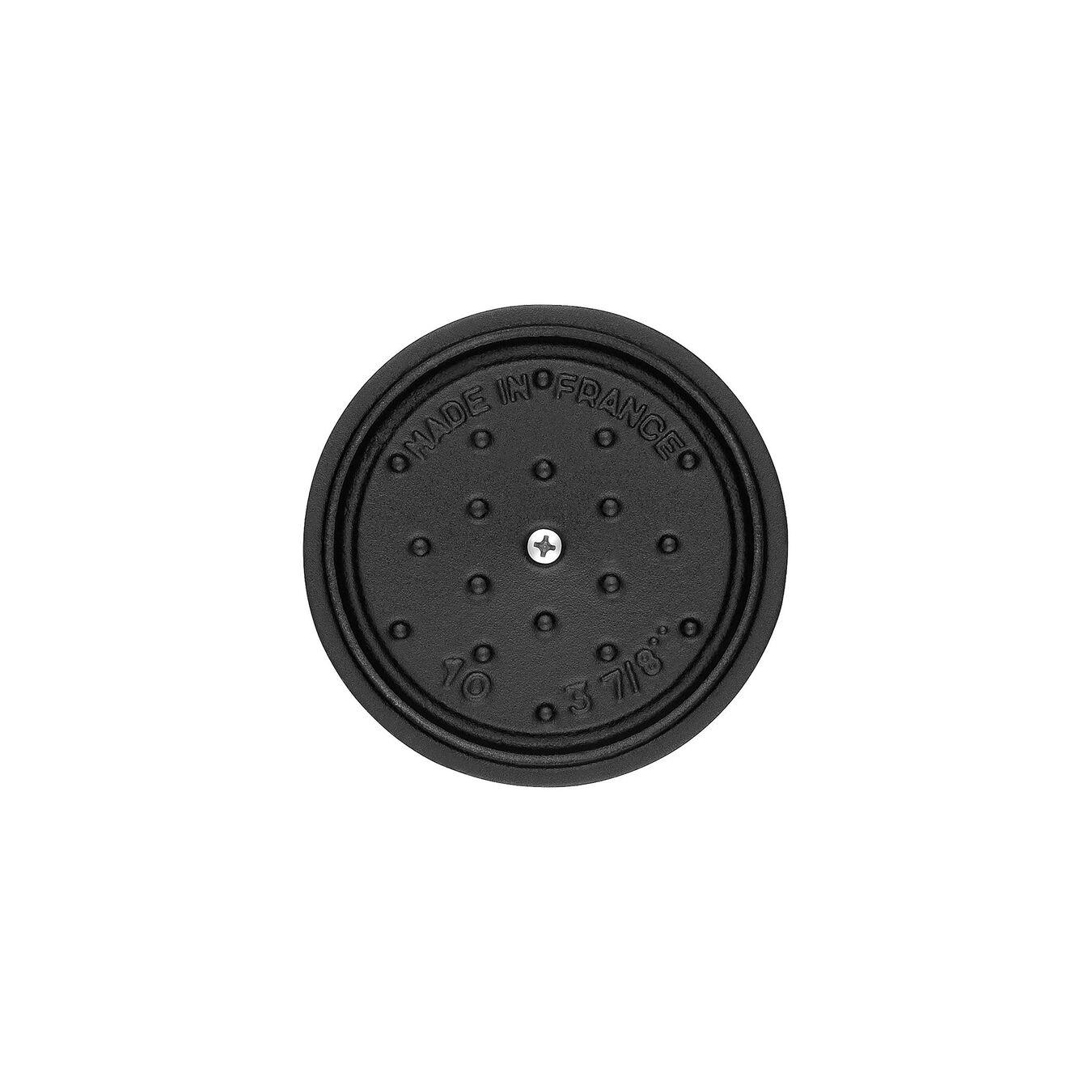 Mini Cocotte 10 cm, rund, Schwarz, Gusseisen,,large 2