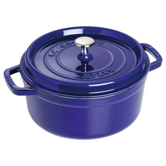 8.75-qt round Cocotte, Dark Blue,,large 2