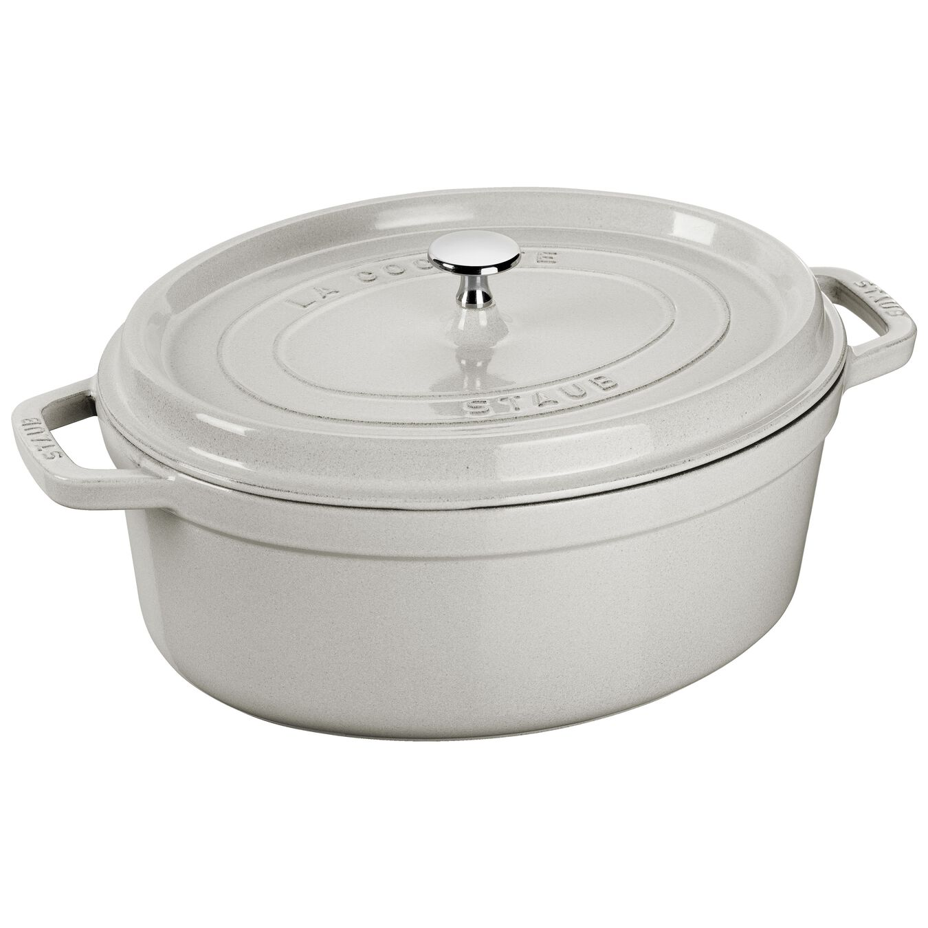 4.25 l oval Cocotte, white truffle,,large 1