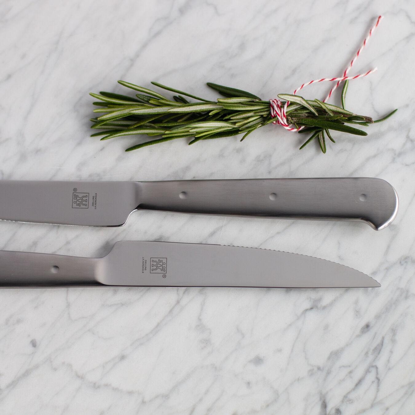 8-pc, stainless steel Porterhouse Steak Knife Set in Black Presentation Box,,large 8