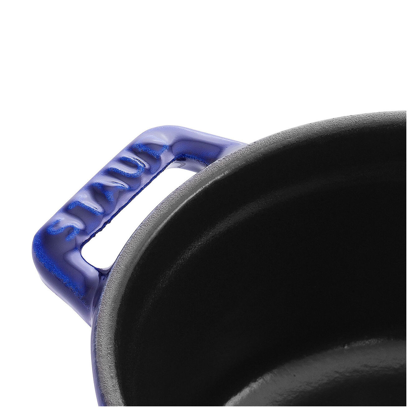 Mini Cocotte 10 cm, Rond(e), Bleu intense, Fonte,,large 2