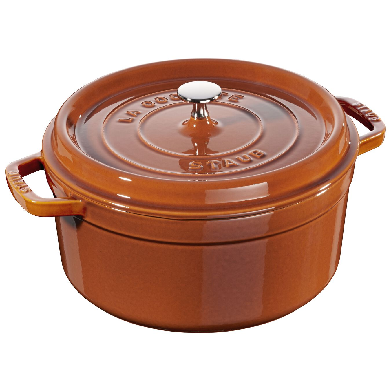 5.5 qt, round, Cocotte, burnt orange,,large 1