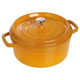 Staub Cast iron, 5.5-qt-/-26-cm round Cocotte, Mustard