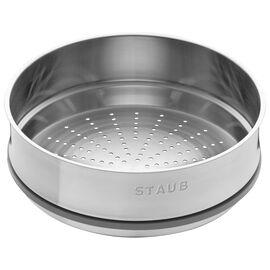 Staub ACCESSORIES, Buharda Pişirme Aparatı, Yuvarlak   26 cm   Metalik Gri
