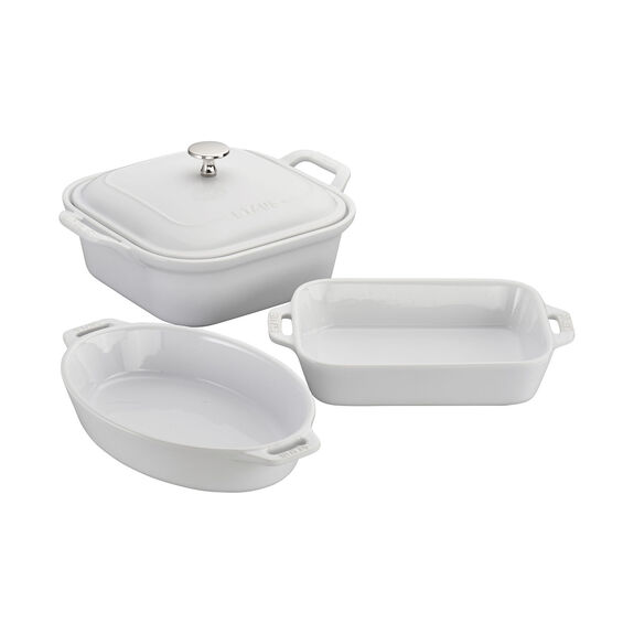 4-pc Baking Dish Set - White,,large