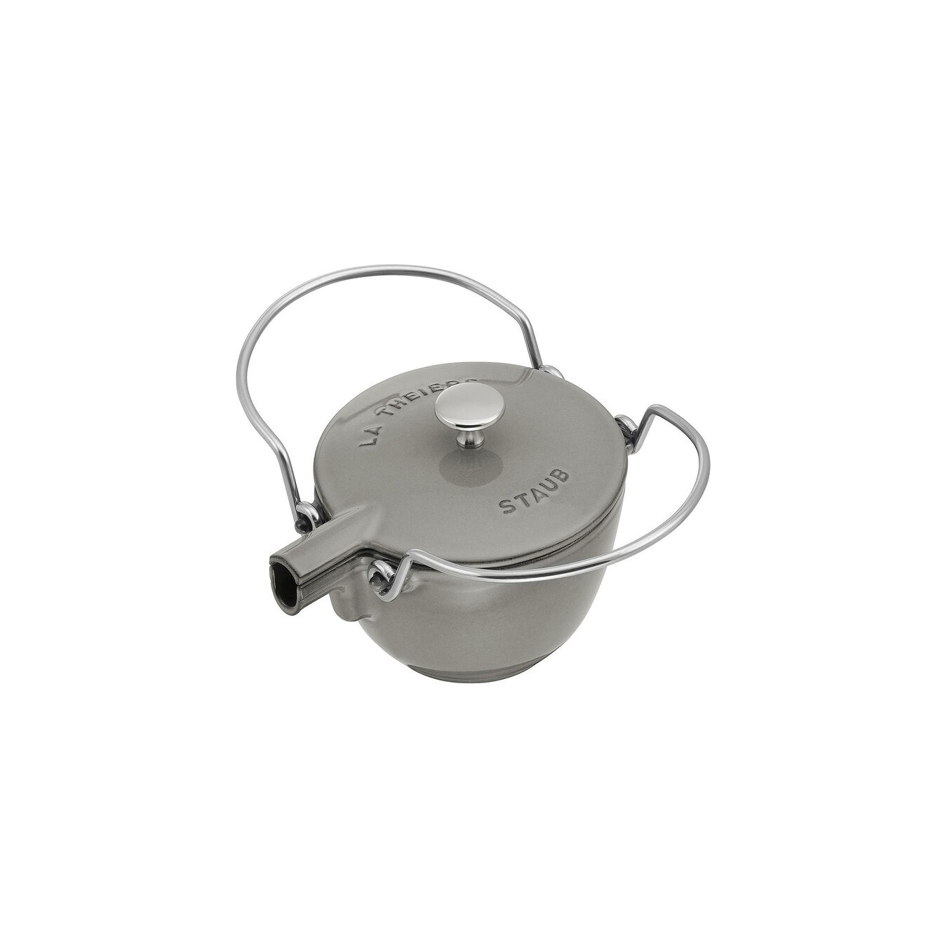 1-qt Round Tea Kettle - Graphite Grey,,large 2
