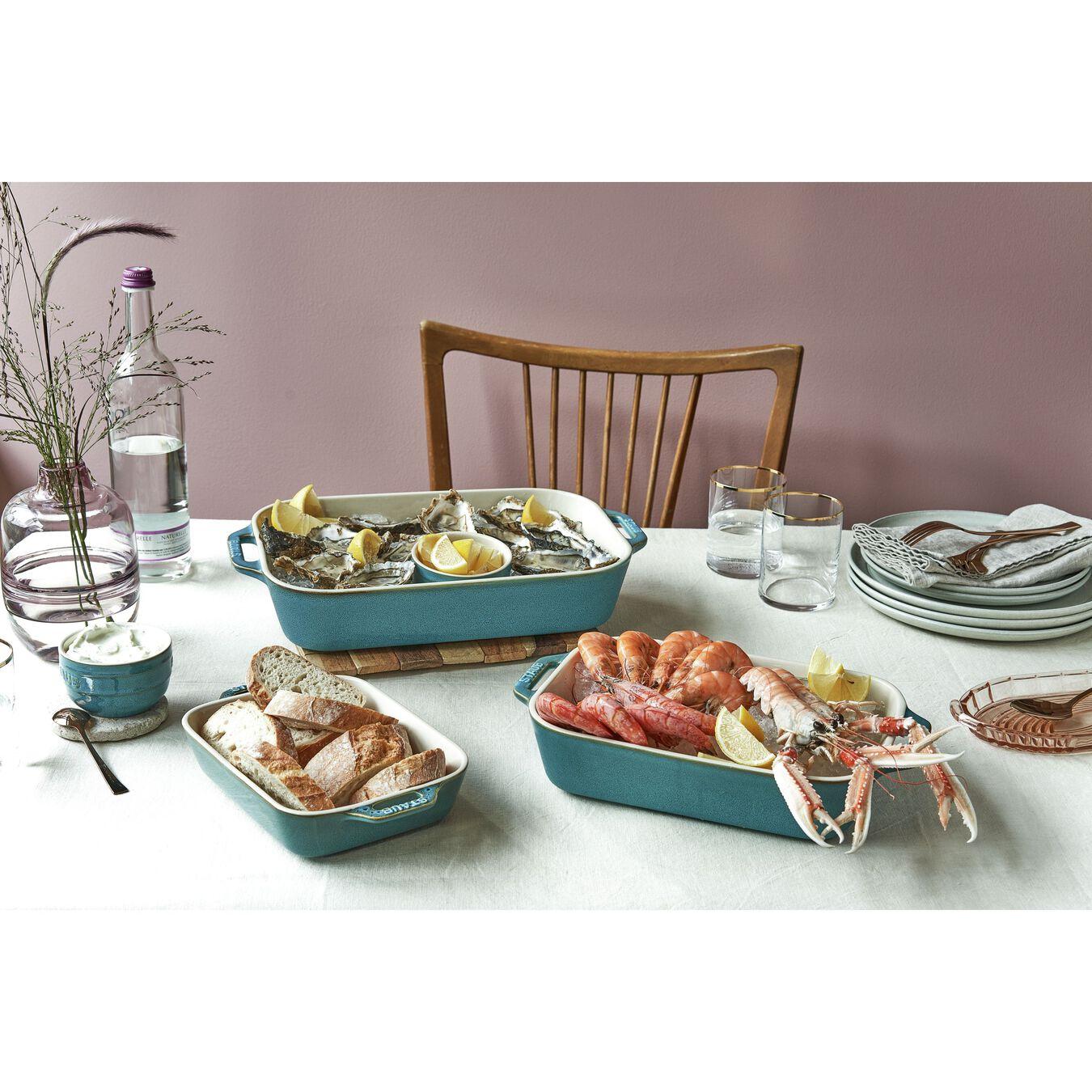 3-pc, Rectangular Baking Dish Set, rustic turquoise,,large 2