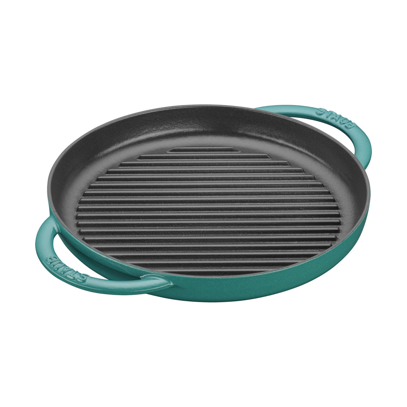 10-inch, Round Double Handle Pure Grill, turquoise,,large 1