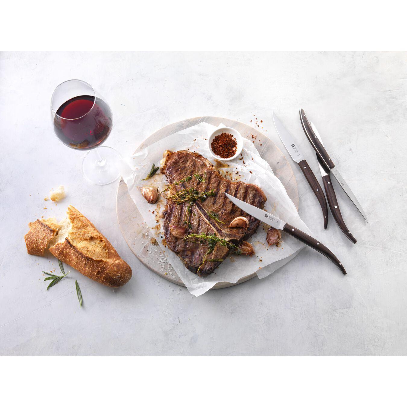 Set da bistecca seghettato, stampato, marrone,,large 3
