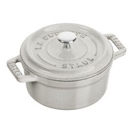Staub La Cocotte, .25-qt Mini Round Cocotte - White Truffle