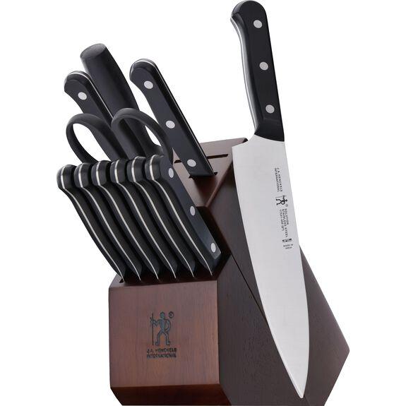 12-pc Knife block set ,,large 2