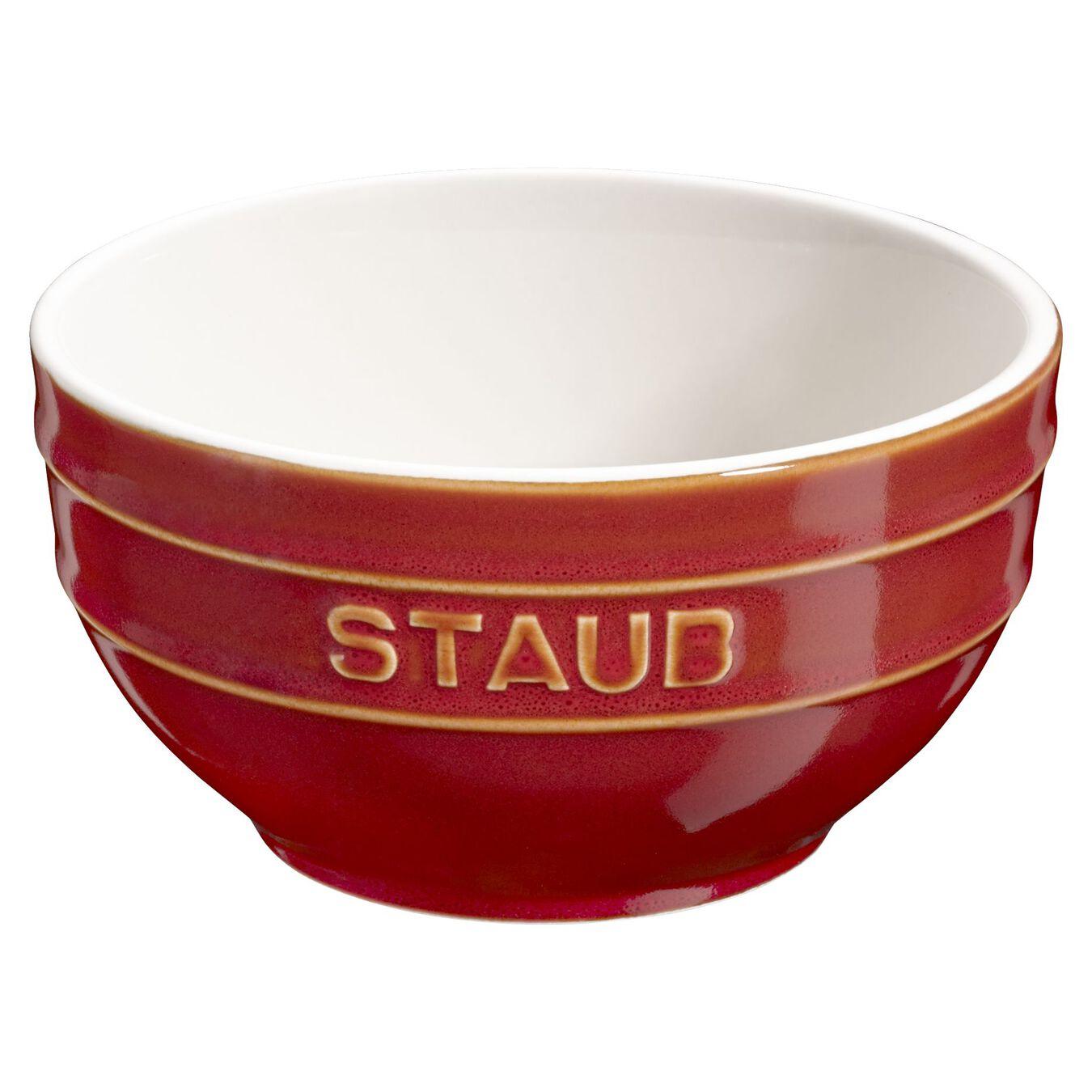14 cm Ceramic round Bowl, Ancient-Copper,,large 1