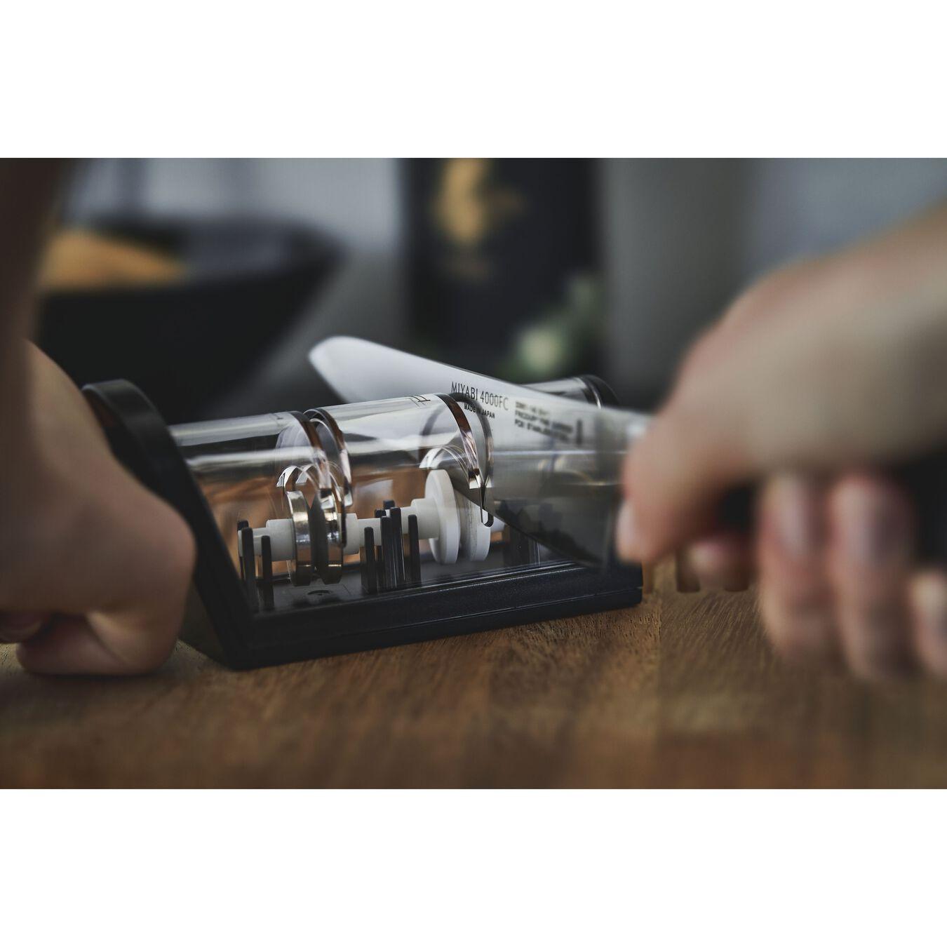 Knife sharpener ceramic discs, 21 cm | black | ceramic,,large 2