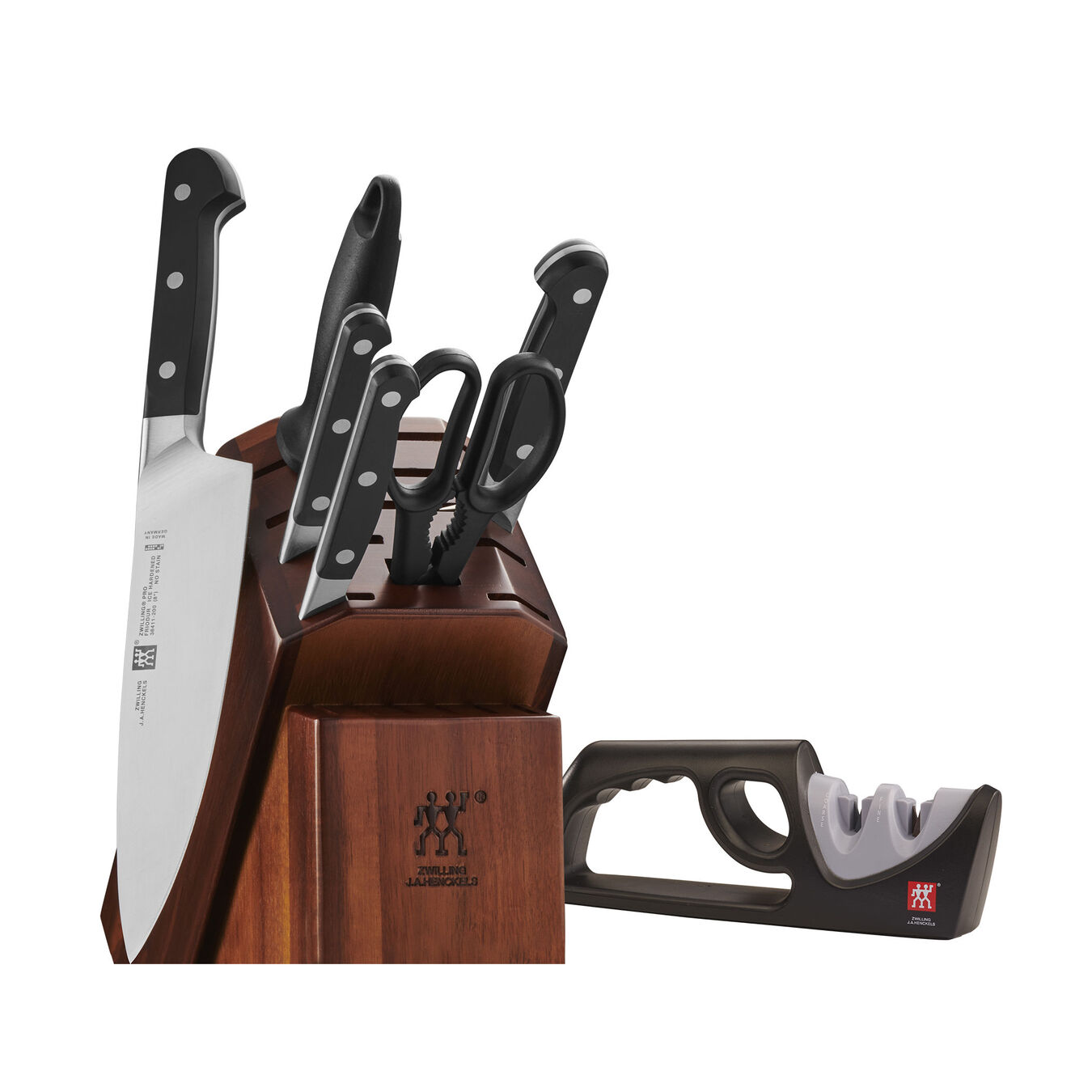 7-pc Knife Block Set with Bonus Sharpener,,large 1