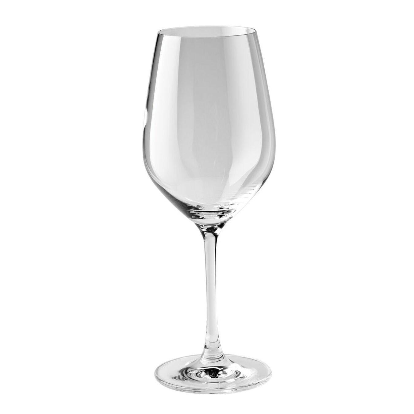 6-pc Burgundy White Glass Set,,large 1