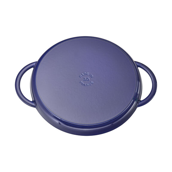 12-inch Round Double Handle Pure Griddle - Dark Blue,,large 3