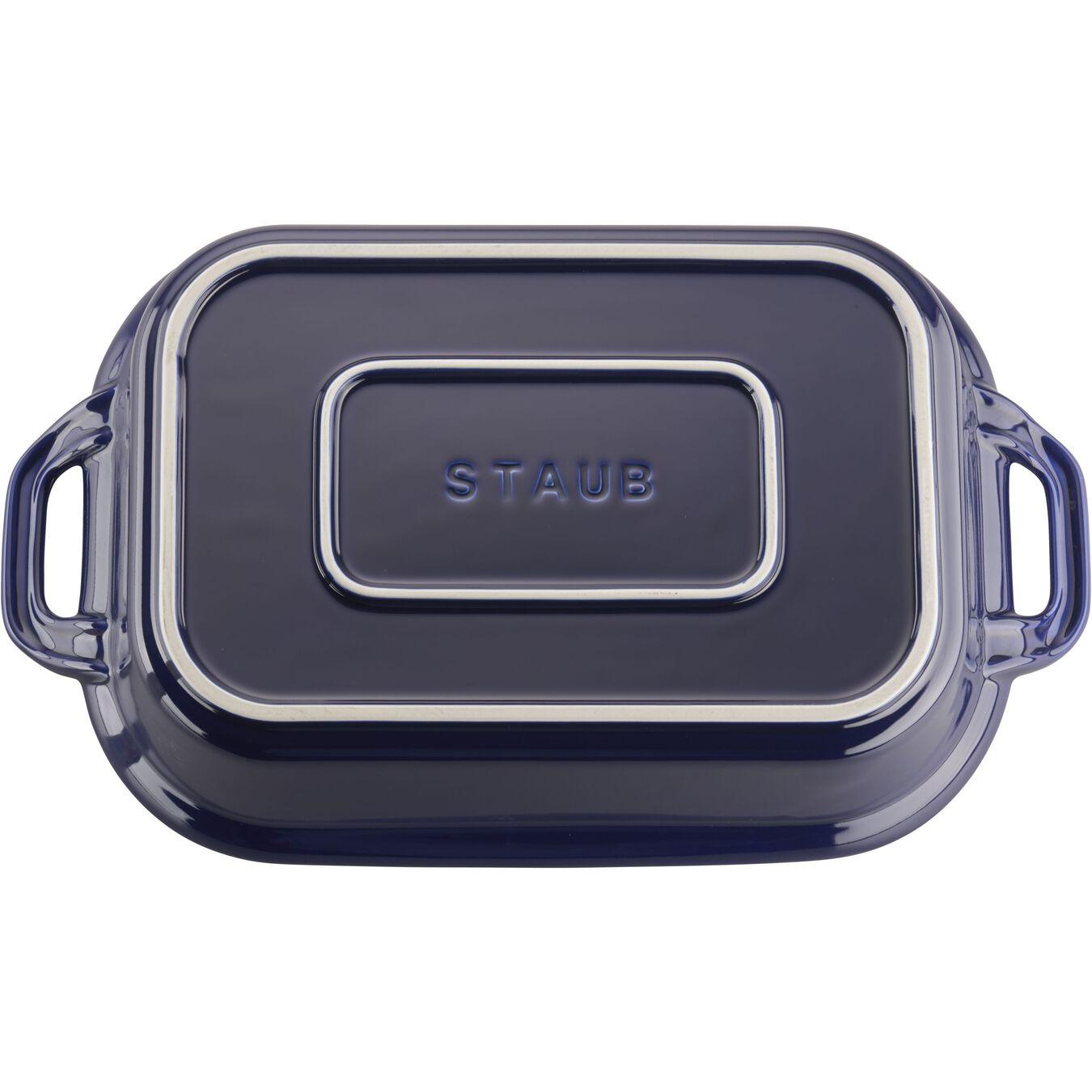1-inch, rectangular, Special shape bakeware, dark blue,,large 5