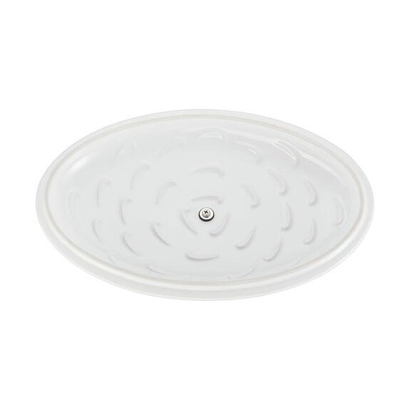 Ceramic Oval Covered Baking Dish, White,,large 5
