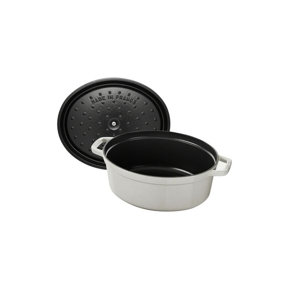 3.25-qt Oval Cocotte - Visual Imperfections - White Truffle,,large 7
