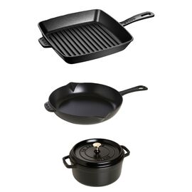 Staub Cast iron, 4 Piece Mixed set