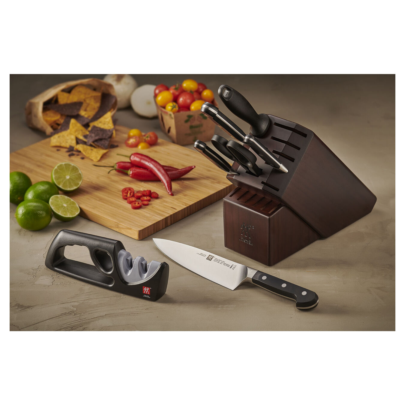 7-pc Knife Block Set with Bonus Sharpener,,large 2