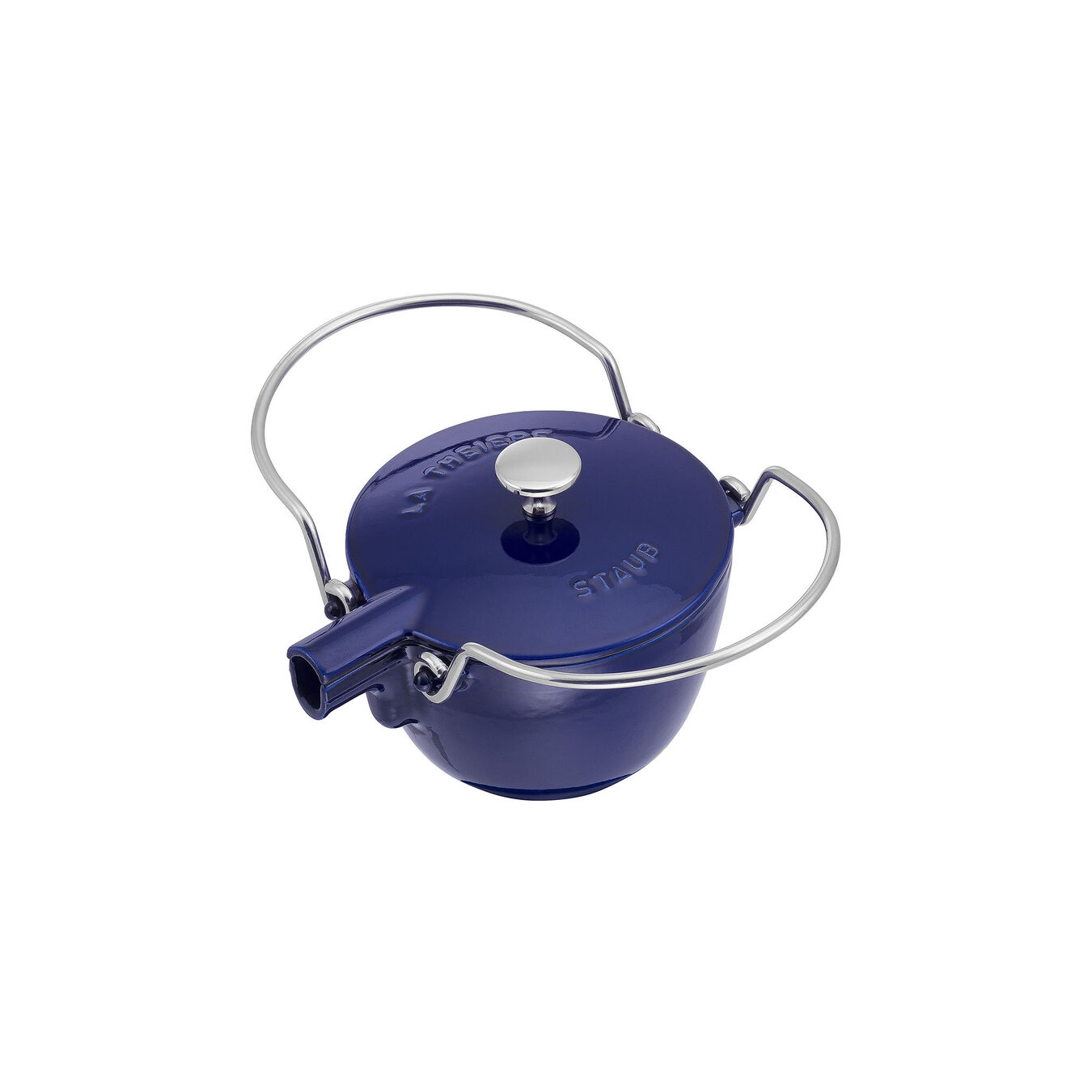 1.25 qt, round, Tea pot, dark blue,,large 2