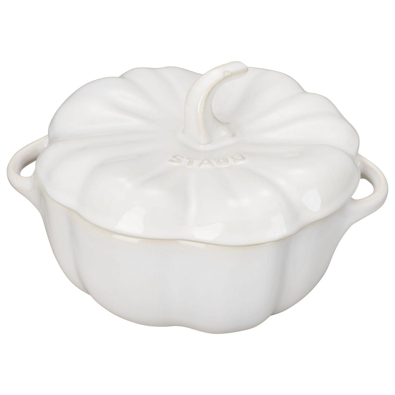0.75 qt, pumpkin, Cocotte, ivory-white,,large 1