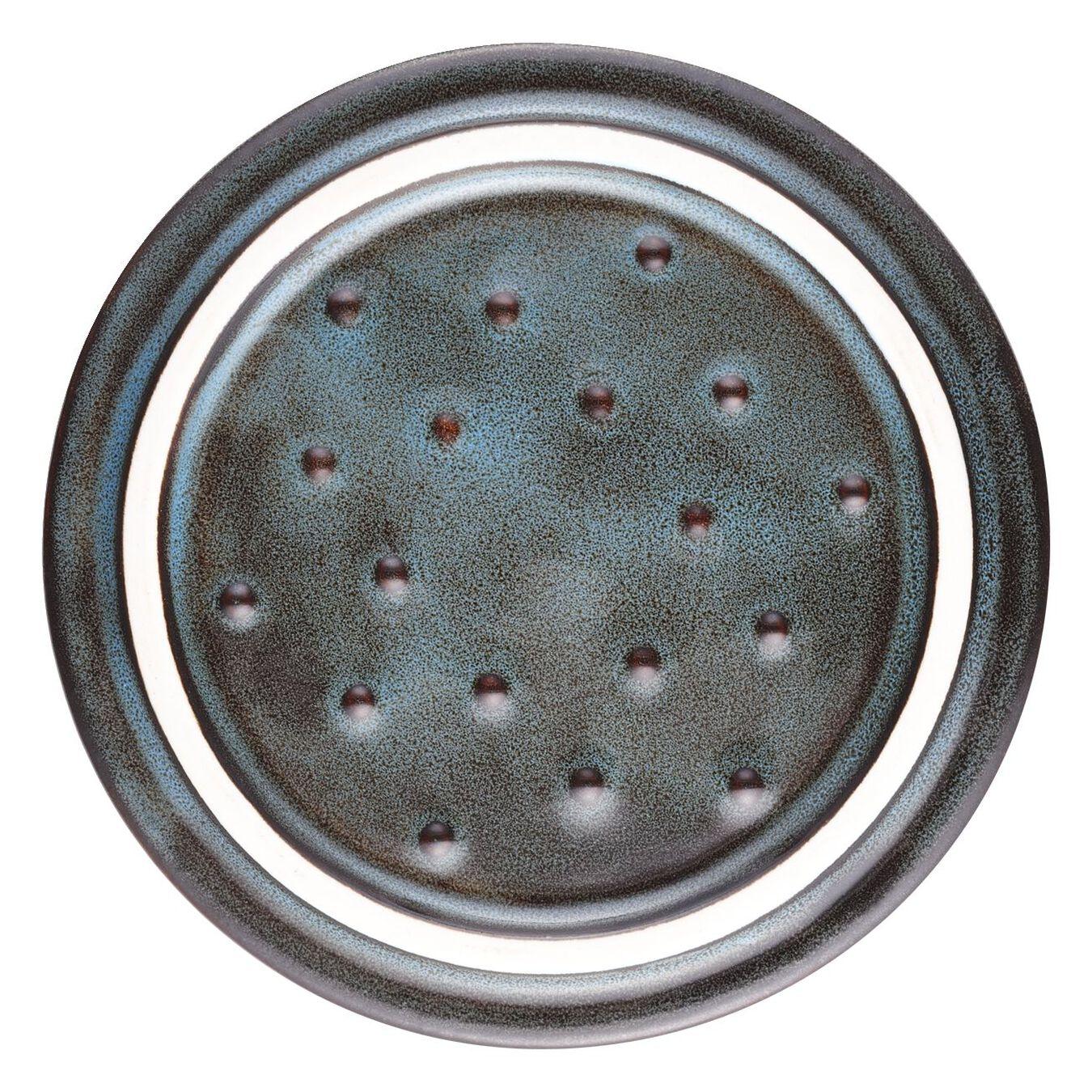 Mini Cocotte 10 cm, Rond(e), Turquoise antique, Céramique,,large 6