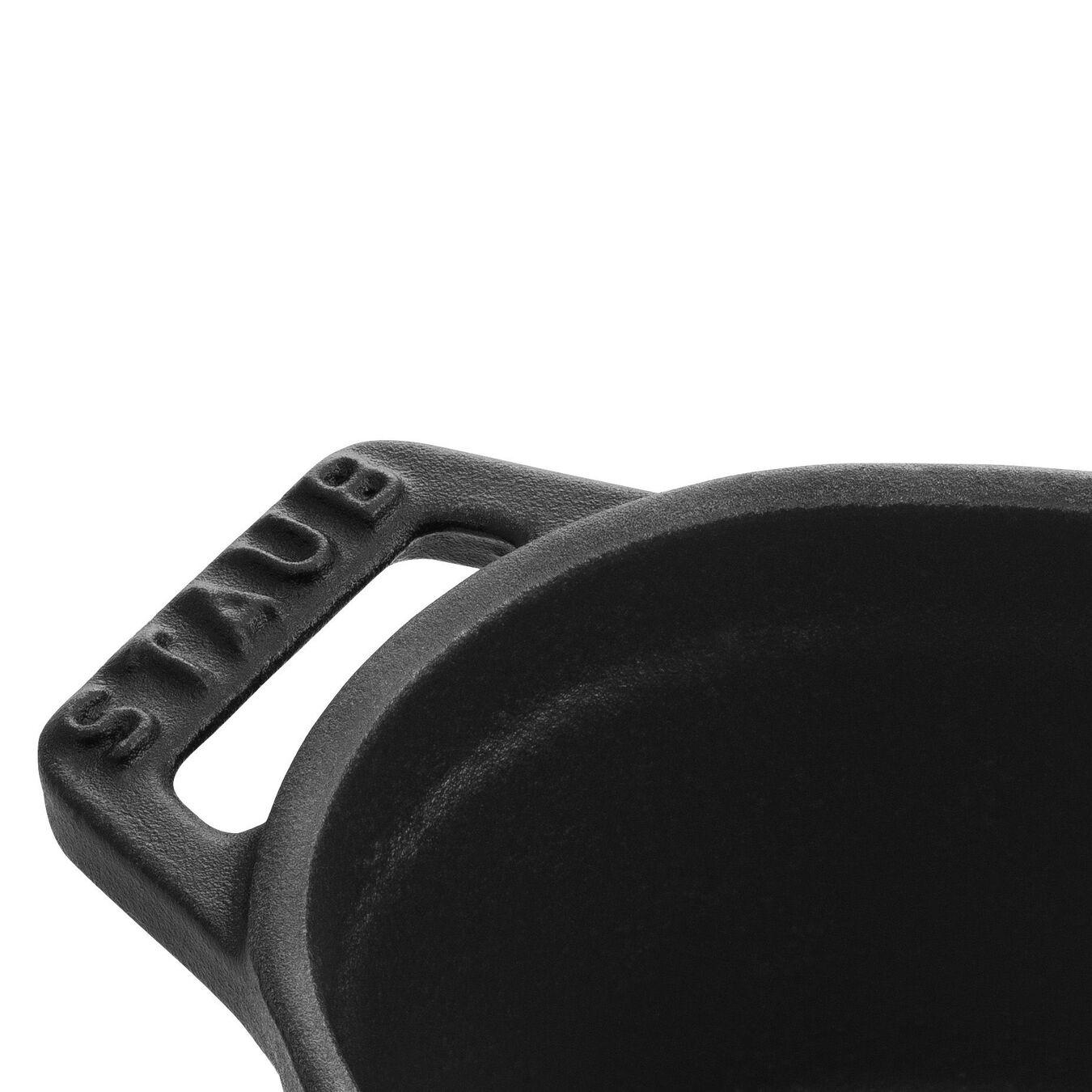 Mini cocotte ovale - 11 cm, nero,,large 4