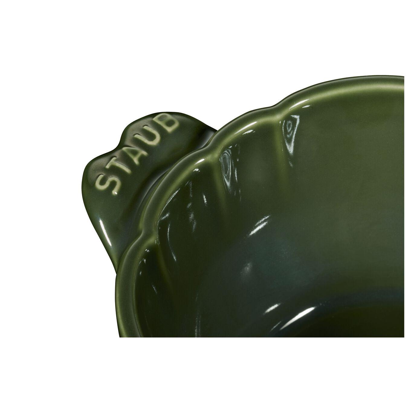 Cocotte 13 cm, Artischocke, Basilikum-Grün, Keramik,,large 3