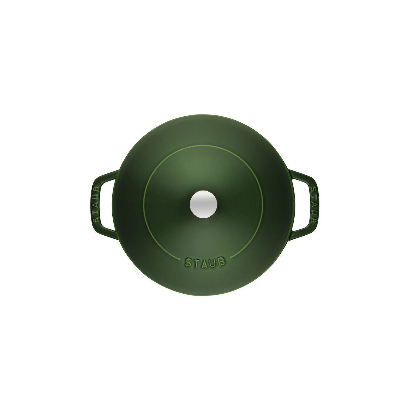 3.7 l Cast iron round Saute pan Chistera, basil-green,,large 5