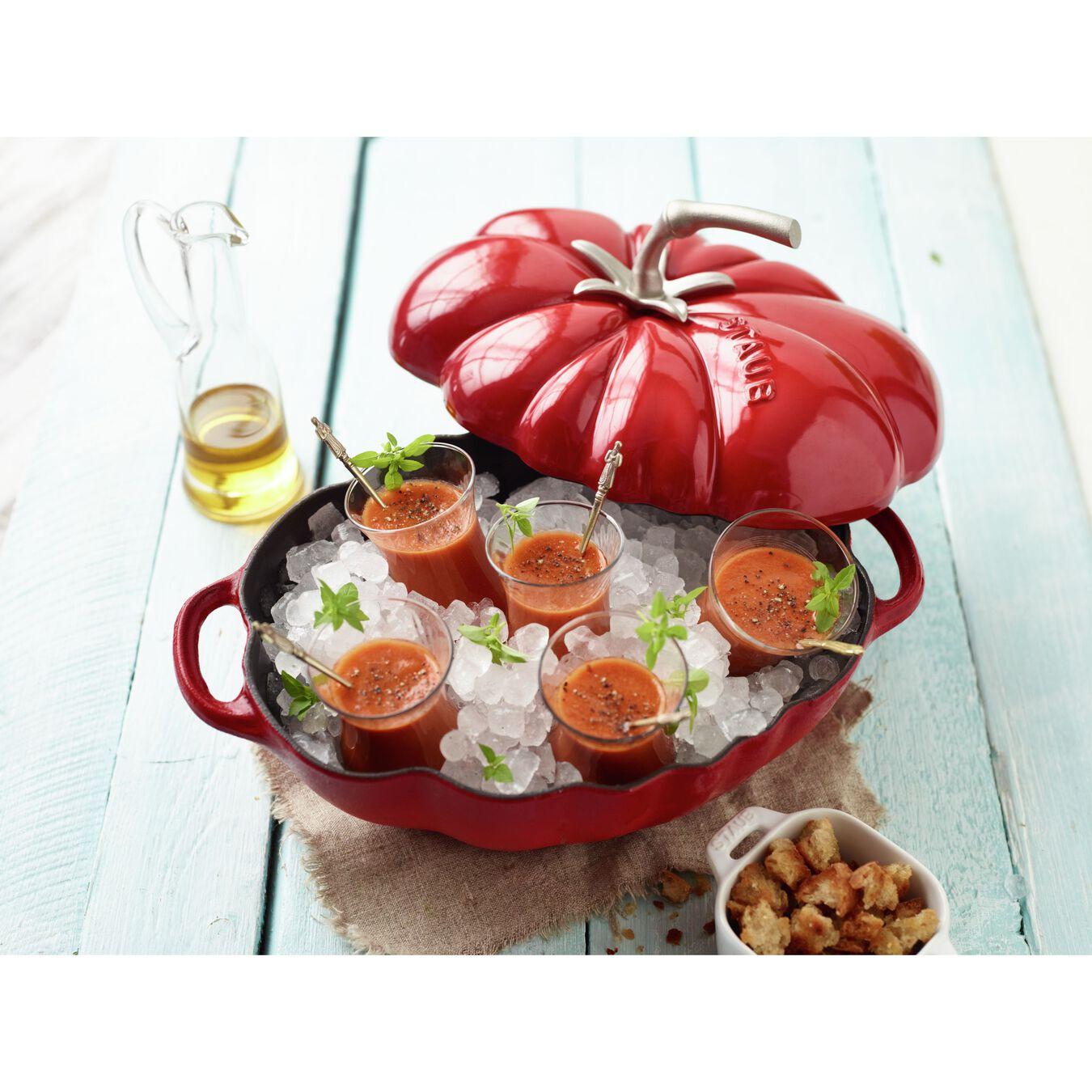 Cocotte 25 cm, Tomate, Kirsch-Rot, Gusseisen,,large 3