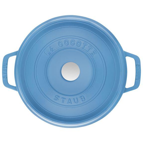 5-qt round Cocotte, Ice-Blue,,large 3