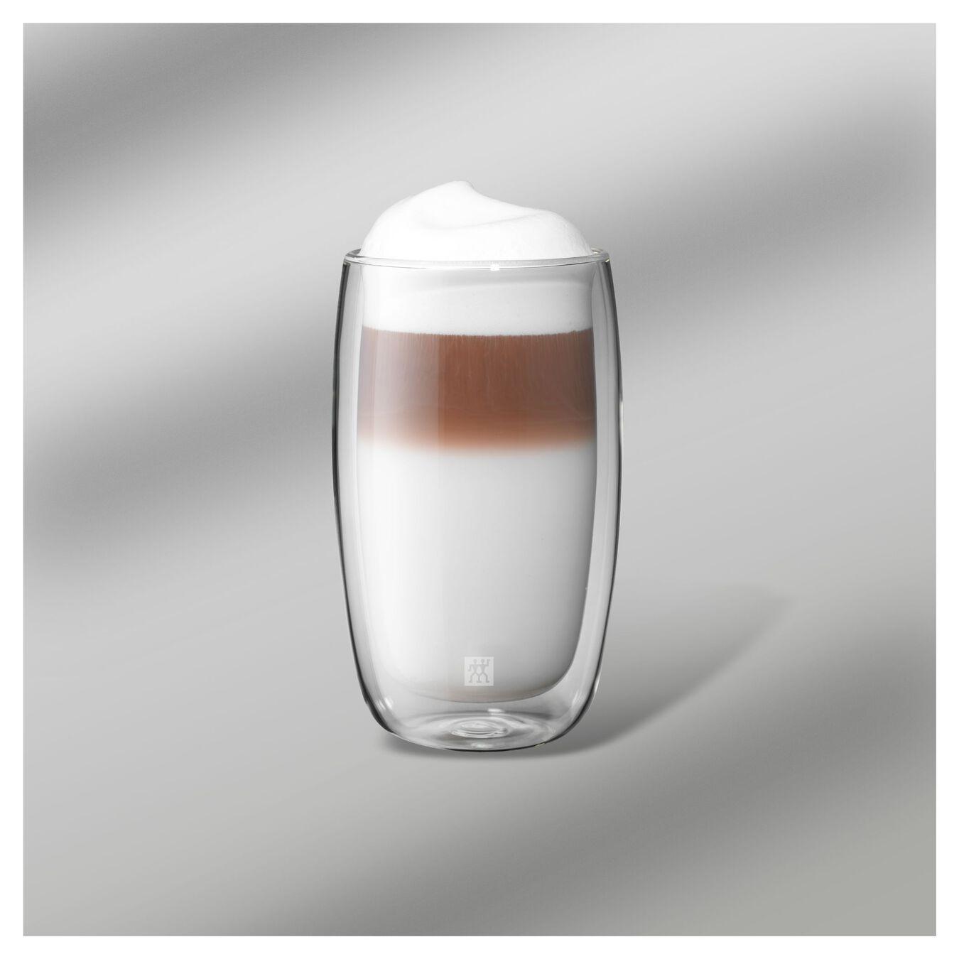 Set di bicchieri da latte - 2-pz., vetro borosilicato,,large 4
