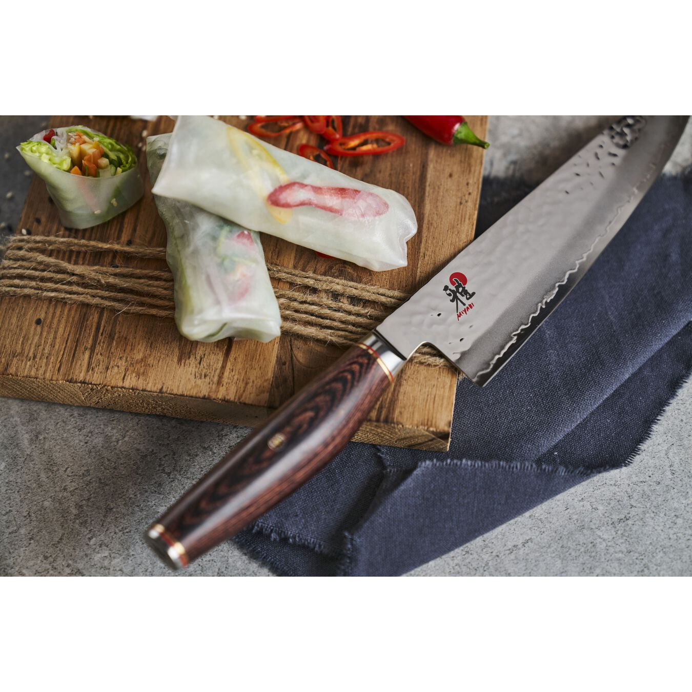 Gyutoh 20 cm, Braun, Pakka Holz,,large 3