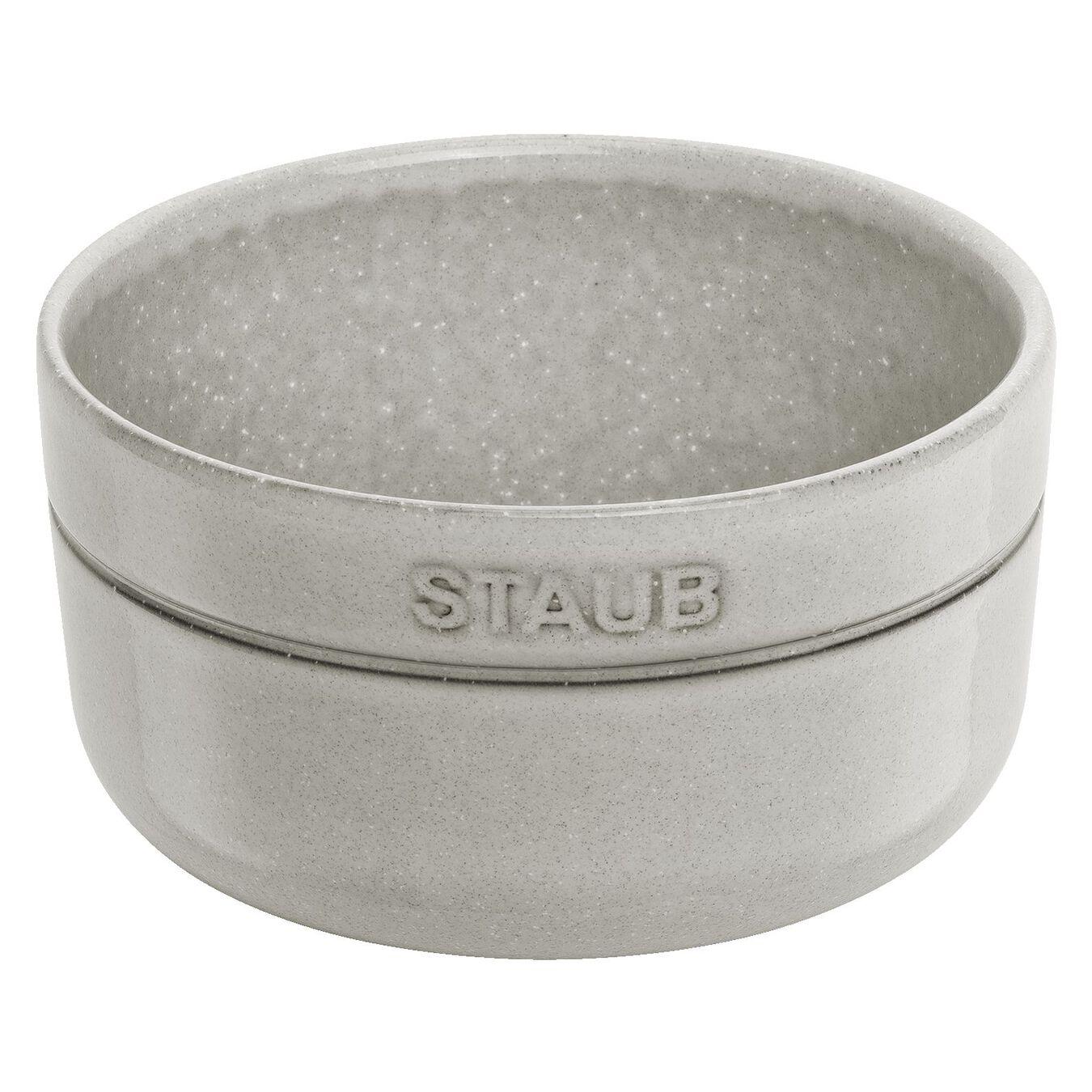 4-pcs Ceramic round Service de bols, White Truffle,,large 1
