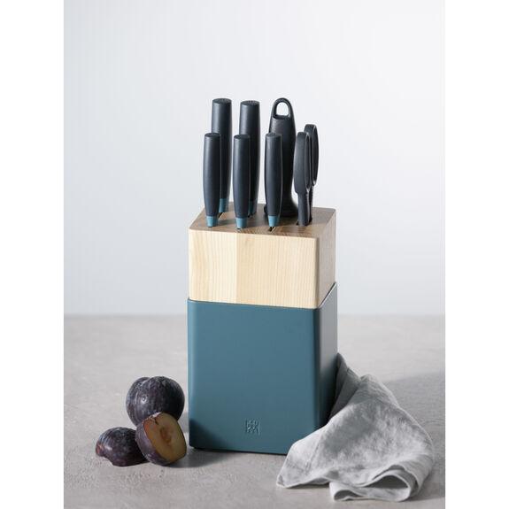 8-pc Knife Block Set - Blueberry Blue,,large 4