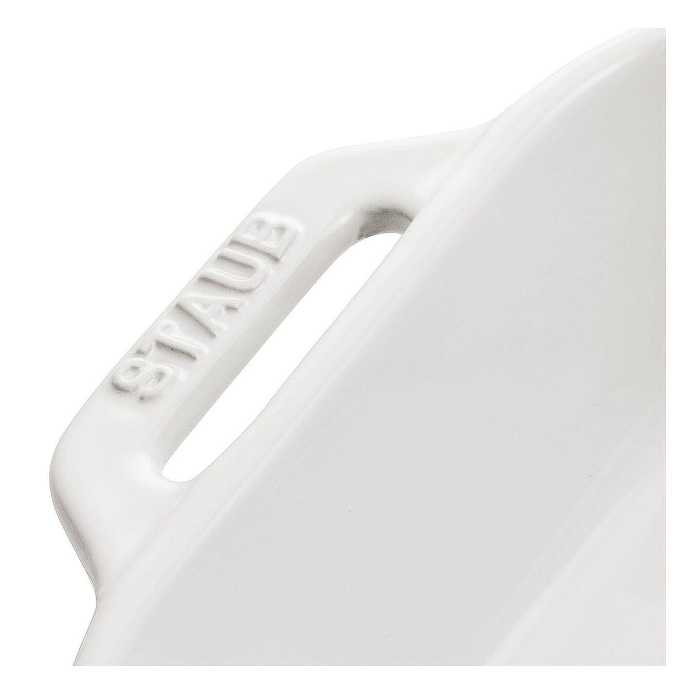 Ceramic rectangular Plat empilable, Pure-White,,large 2