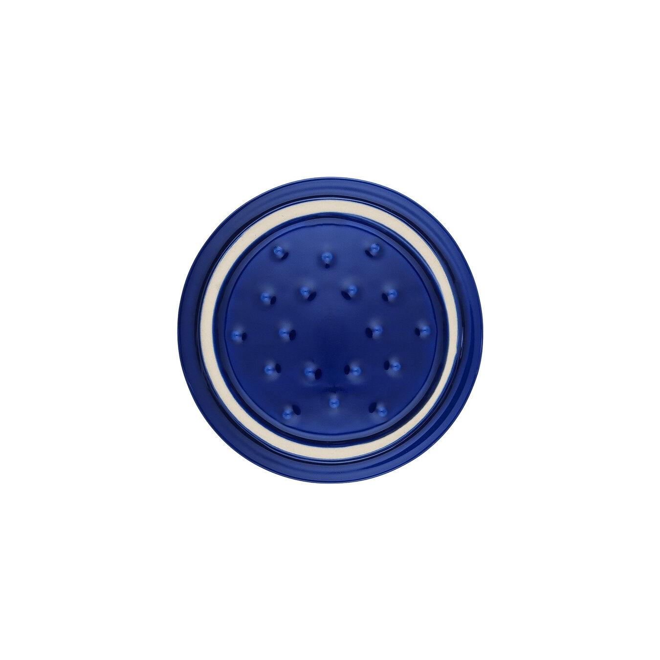 Mini Cocotte 10 cm, Rond(e), Bleu intense, Céramique,,large 2