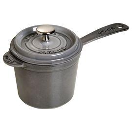 Staub Cast iron, 18-cm-/-7-inch Enamel Sauce pan, Graphite-Grey